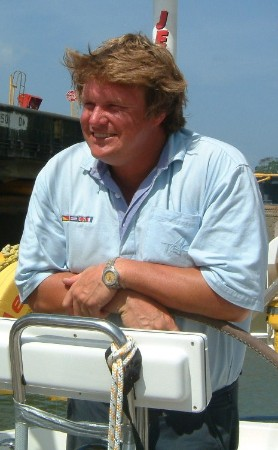 Simon in the Panama canal